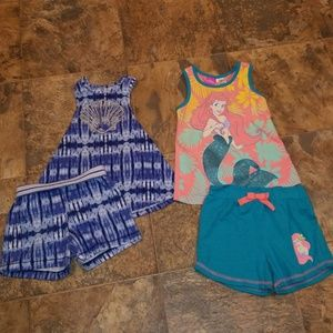 2 LIL GIRLS 2 PC SHORT SETS